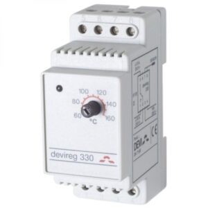 Терморегулятор DEVI Д-330, +60°C-+160°C, с датчиком на проводе