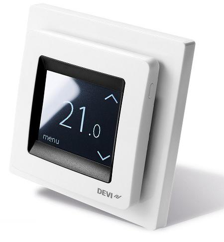 Терморегулятор DEVI Devireg Touch с комбинацией датчиков, белый