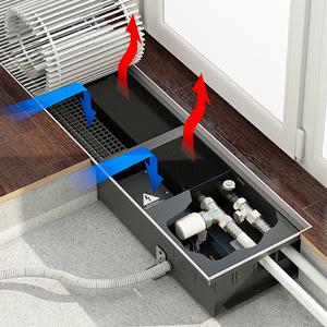 Внутрипольный конвектор с вентилятором VARMANN Qtherm