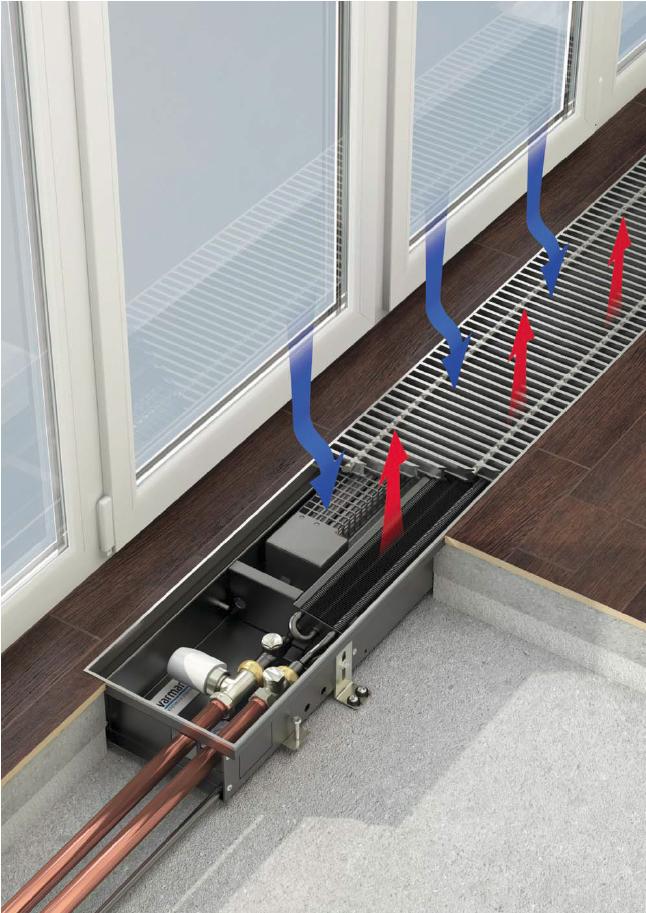 Конвекторы для нагрева и охлаждения воздуха с тангенциальными вентиляторами Qtherm HK Mini