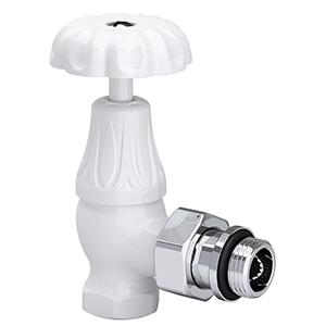 "Угловой клапан SR Rubinetterie для радиатора серия Old Style 1/2"", цвет: белый, арт. 0337-1500VC0A"