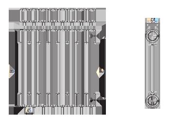 Стальные трубчатые радиаторы IRSAP Tesi2 чертёж
