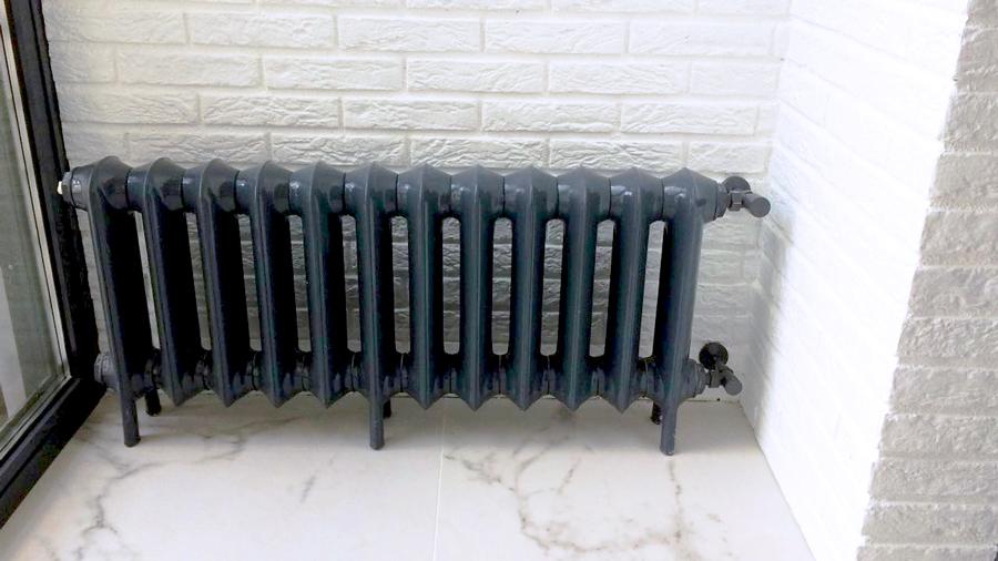 Чугунный радиатор EXEMET Prince 12 секций, черный