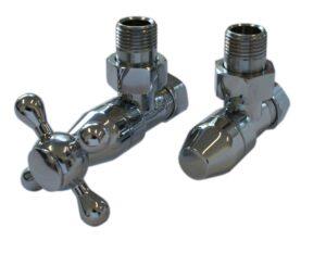 Комплект клапанов с ручной регулировкой SCHLOSSER Elegant Style (хром, угловой, без дерева)