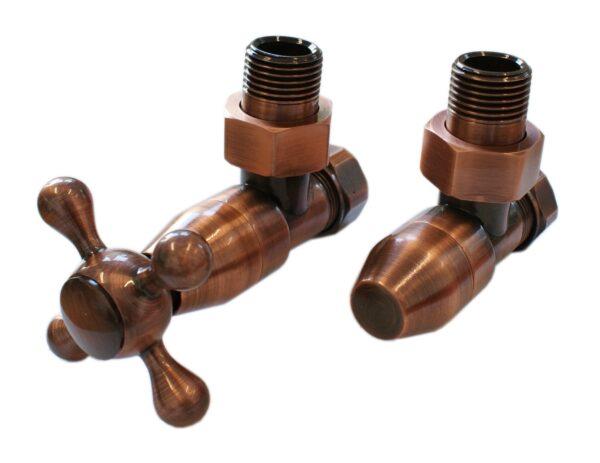 Комплект клапанов с ручной регулировкой SCHLOSSER Elegant Style (античная медь угловой без дерева)