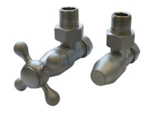 Комплект клапанов с ручной регулировкой SCHLOSSER Elegant Style (сатин угловой без дерева)