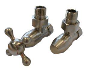 Комплект клапанов с ручной регулировкой SCHLOSSER Elegant Style (сталь, угловой, без дерева)