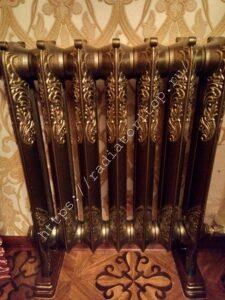 Чугунный радиатор EXEMET Rococo цвет Антик бронза