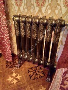 Чугунный радиатор EXEMET Rococo в интерьере