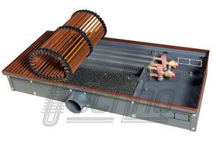Внутрипольные конвекторы Techno® с подачей воздуха от приточной вентиляции
